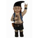 Mighty Metal Bob® Gartenzwerg Modell Festival Black