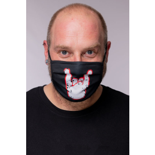 ROCKZWERG® mouth / nose mask white horns