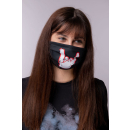 "ROCKZWERG® mouth / nose mask ""white horns"""