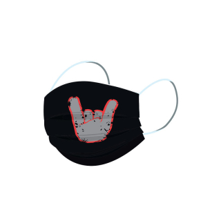 ROCKZWERG® mouth / nose mask grey horns
