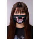 "ROCKZWERG® mouth / nose mask ""grey horns"""